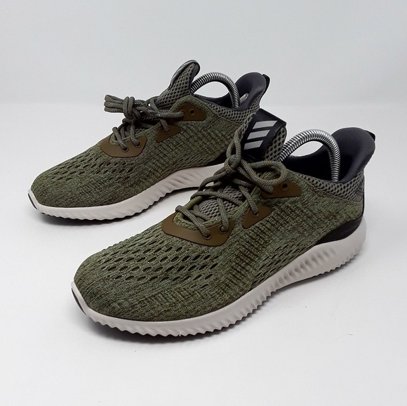 ca4745547dd Adidas AlphaBounce EM Women s Olive Green Sneakers